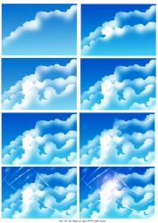 How i draw clouds by ryky