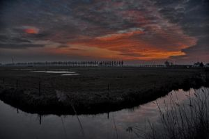 Sunset in Brabant by Patirona