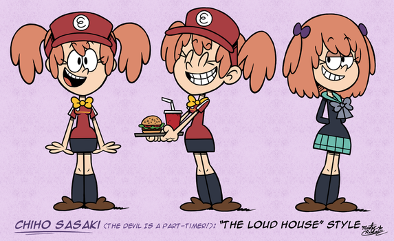 [MM] 'LOUD HOUSE' Style: Chiho Sasaki by MAST3R-RAINB0W