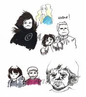 Games of Thrones artworks by Anorya