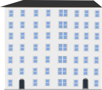 Apartment building2 by OceanRailroader