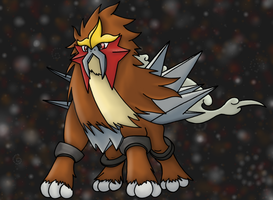 Entei Holo by SeraphVern