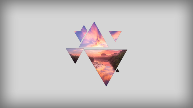 Triangle Background 4 by vekst