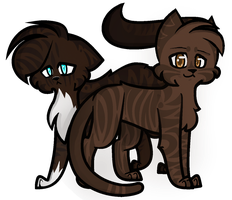 Hawkfrost and Brambleclaw by 34804