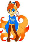 adoptable  c day1: Kimiko The Kitsune (sold) by Mongoosegoddess