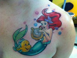Ariel Tattoo by LucyCarpentalker