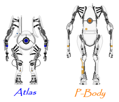 Atlas and P-Body by Silence-Is-Loud