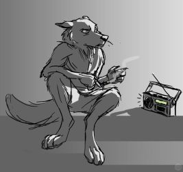 Quick Werewolf Sketch by furious-teapot