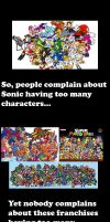 Sonic has too many characters, but... by MeltingMan234