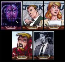 IronMan 2 Rejected Sketchcards by Guy-Bigbelly