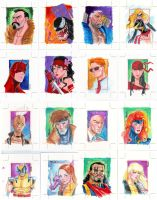 Marvel 70th Sketch cards 2 by jFury