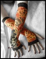 Mantra Arm Warmers by ZenAndCoffee