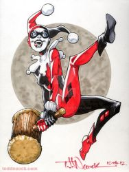 Harley Quinn Copic color by ToddNauck