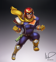 Captain Falcon by hybridmink