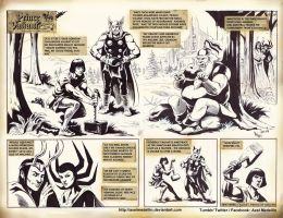 TLIID 375. Prince Valiant and Thor by AxelMedellin