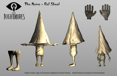 Little Nightmares - Nome Ref Sheet by TheCreatorsEye