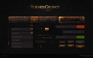 Burned Grunge Web UI KIT by Evil-S