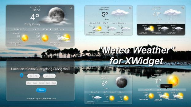 METEO Weather for xwidget (EDITED) by Jimking