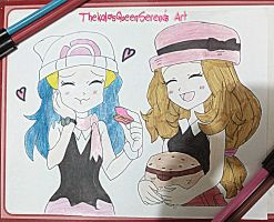 Tasting Serena's Macrons~Dawn and Serena by TheKalosQueenSerena