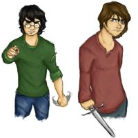 DH Harry and Nev by MioneBookworm