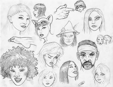 Face Sketches 180317 by TheMightyGorga