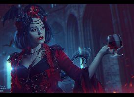 Countess Bathory + Video (Commission) by Nikulina-Helena
