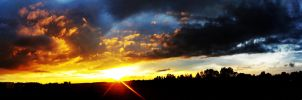242 Sunset panorama by gacek