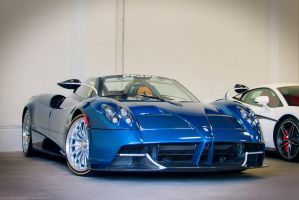 Blue Carbon Huayra Roadster by SeanTheCarSpotter