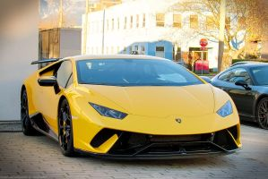 Yellow Performante by SeanTheCarSpotter
