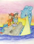 Traveling with Lapras by still-a-fan