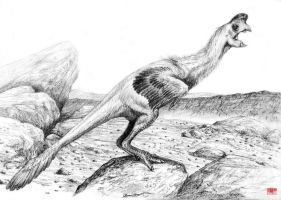 Oviraptor philoceratops sketch by cheungchungtat
