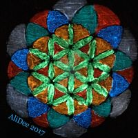 Glow-in-the-Dark Flower of Life by AliDee33