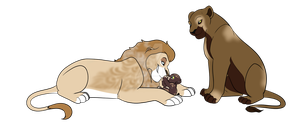 Lion Family {DTA} by SoulsofTheDoomed