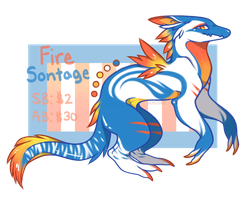 Adopt Auction - Fire Sontage (CLOSED) by Senyuri