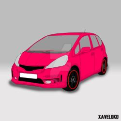 Honda Jazz vector by xavierlokollo