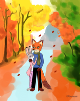 Walking in the Autumn (25 years later) by Koraru-san
