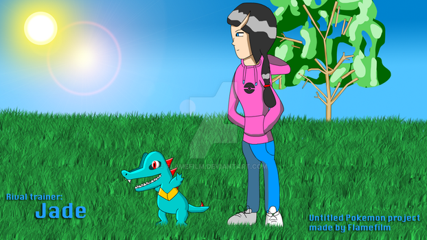 Jade and Totodile by FlameFilm