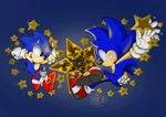 Entry .:Star-Studded Sonics:. GIF version by zxrom