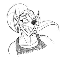 Undyne1 by Mickeymonster