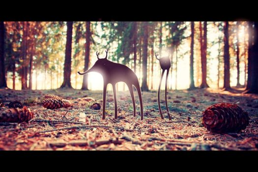 Deerfant and his friend by Eredel