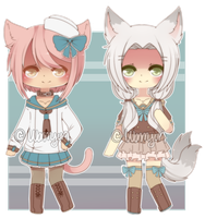 [CLOSED] Kemonomimi Adopts 003 by WanNyan