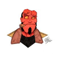 Hellboy by LloydBridgeman