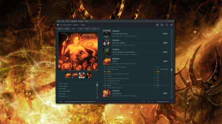 foobar2000 theme screenshot by eXtremeHunter1972
