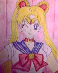 Sailor Moon (Colored) by GhostFreak-Artz
