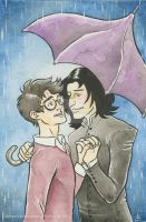 Snarry in the Rain by jackiemakescomics