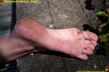 The Somewhat Dirty Foot by Footografo