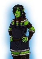 Orc Girl by Sunkaro