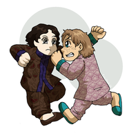 Chibi Xavier and Lucian by ErinPtah