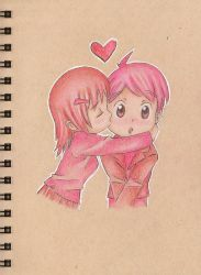 Day 7: Pink Kiss by sketchwithtiff