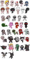 Binding of Isaac Characters by Memoski